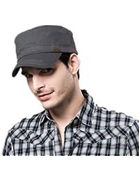 Kenmont Printemps Unisexe Homme 100% coton de chapeau de chapeau militaire Golf Visor cadets