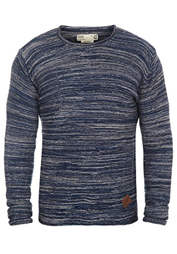 SOLID Menghi Men's Knitted Pullover, size:S;colour:Insignia Blue (1991)