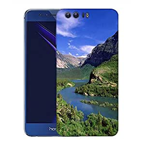Snoogg Abstract Lake Nature Designer Protective Phone Back Case Cover for Huawei Honor 8