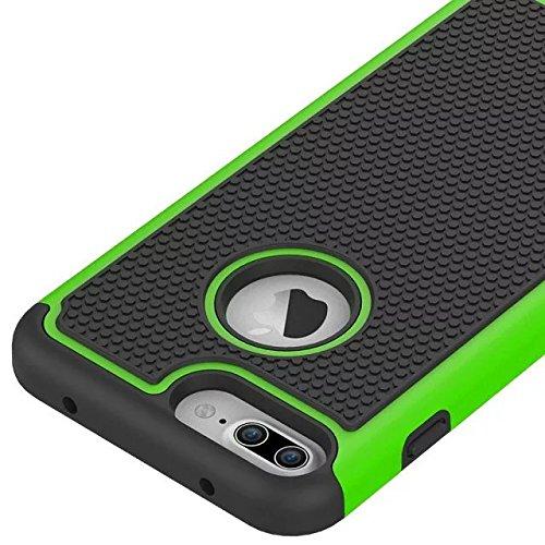 YHUISEN Kugel Series Rüstung Stoßdämpfende Gummi Kunststoff Defender Case Schutzhülle für IPhone 7 plus ( Color : Emerald , Size : IPhone 7 Plus ) Green