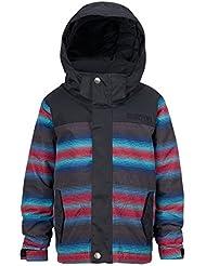 Burton–Chaqueta de snowboard Minis hred Amped Jacket, niño, Snowboardjacke MINISHRED AMPED JACKET, Seaside Strp/Tru Blk