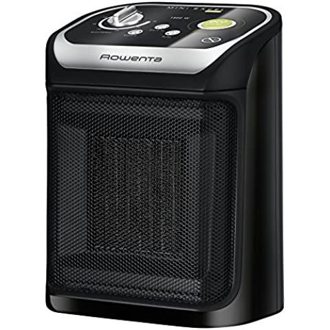 Rowenta Mini Excel Eco SO9265 - Calefactor de potencia regulable, 1000 W - 1800 W, termostato, función Eco, función Silence, 49 dBA