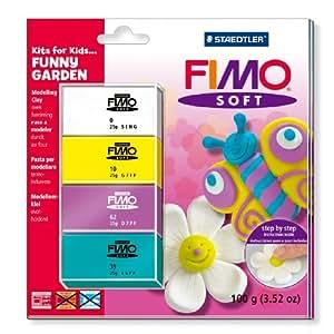 Staedtler 8024 40 L2 Kit pâte FIMO Soft pour enfant Thème jardin amusant