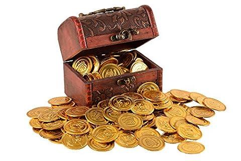 Trekids Pirate Treasure Chest & 100 Plastic Play Gold Coins