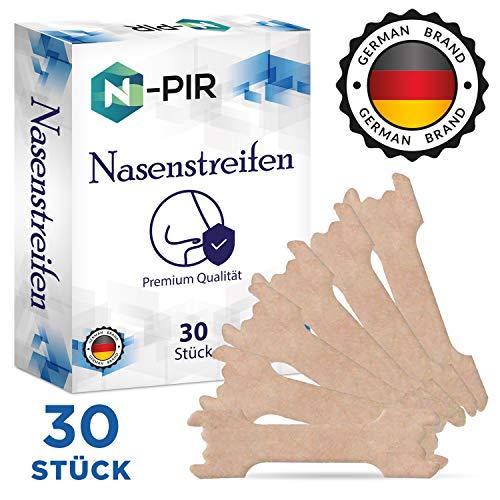 N-PIR Nasenpflaster hilft gegen Schnarchen - Antisnore Nasal Stripes als Anti Schnarch Mittel oder beim Sport - besser atmen und besser schlafen mit dem alternativen anti snoring device, 30 Stück