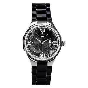 stella maris damen armbanduhr schwarz analog quarz premium keramik diamanten stm15y4 amazon. Black Bedroom Furniture Sets. Home Design Ideas