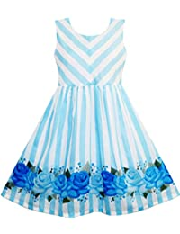 Sunny Fashion - Vestido rayas para niña azul