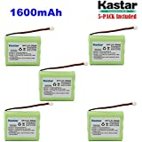 Kastar 5-PACK AAX3 3.6V 1600mAh EH Ni-MH Rechargeable Battery For Vtech