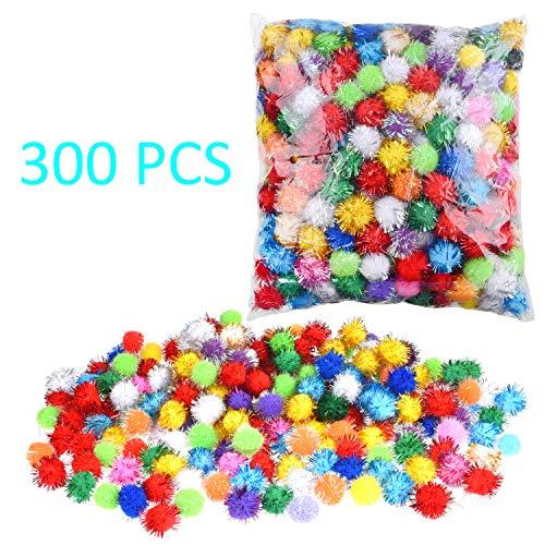 Pompons, 2,5 cm, 300 Stück Glitter Pompoms 300 pack / 1