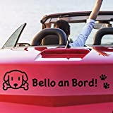 tjapalo pkm235 Autoaufkleber Hunde pfoten Hundeaufkleber auto mit Namen (breite29cm)