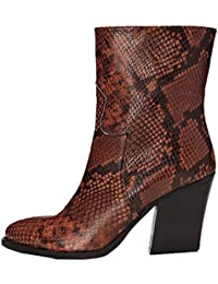 Amazon-Marke: find. Cowboystiefel Damen aus Leder mit rahmengenähter Sohle