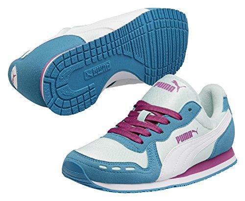 Puma - Cabana Racer Mesh JR - Chaussures, Mixte enfant Bleu claro