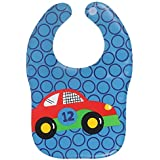 Square Waterproof Plastic Bib, Soft Fabric, REUSABLE, UNISEX, FREE SIZE Wi Comfort-Fit Velcro Closure, BPA Free, Best Gifting Option For Baby Showers, Baby Registry For Baby Boys & Baby Girls (Color 12)