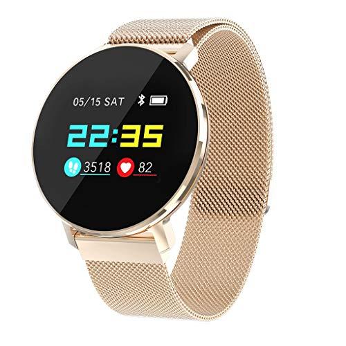 VRTUR Smarte Armband-Sport-Uhr Herzfrequenzüberwachung Blutdruck Wasserdichten Multifunktionsspedometer Schlafüberwachung, Unisex (,Rose Gold)