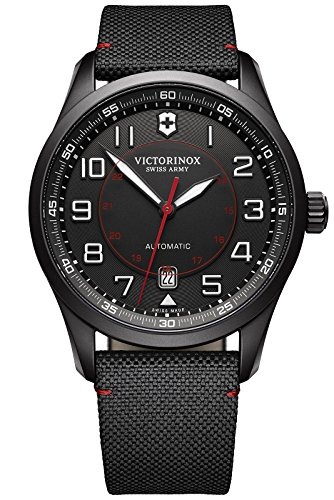 Victorinox Swiss Army Herren-Armbanduhr AirBoss Mechanical Black Edition Analog Automatik Textil 241720