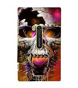PrintDhaba Skull D-2801 Back Case Cover for NOKIA LUMIA 920 (Multi-Coloured)