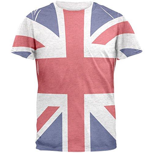 Flagge T Shirt Britische (Britische Flagge Union Jack Herren T Shirt Multi X-LG)