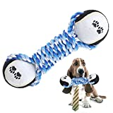 Queta Cotone Pet Dog Chew Toys Dumbbell Corda Tennis Palla Giocattoli per la Pulizia del Cane Cucciolo Puppy Pet Products Dog Training Toy Supplies