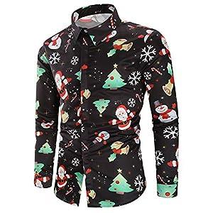 ♚ Blusa navideña para Hombre,