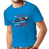 N4311 Männer T-Shirt Hoch motivierte Person (Small Blau Mehrfarben)