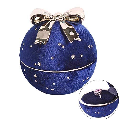 Schmuckkästchen Aufbewahrungsbox für Schmuck,Sternenhimmel Samt Bogen-Knoten Schmuck Aufbewahrungsbox Kugelform Ring Halskette Boxen -