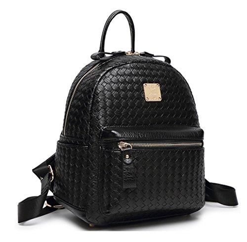 Keshi Pu Niedlich Damen accessories hohe Qualität Einfache Tasche Schultertasche Freizeitrucksack Tasche Rucksäcke Schwarz
