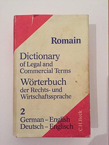 Dictionary of legal and commercial terms, German-English, Part 2 (Wörterbuch der Rechts- und Wirtschaftssprache)