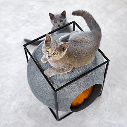 *Haustierbett Katze Cube Kleine Hunde rund Design*