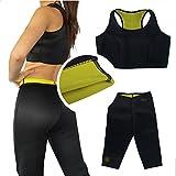 DP Design® - Ensemble brassière et pantalon fitness amaigrissants, effet sauna, taille XL