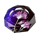 #4: Gracave Crystal Cigarette Ashtray Home Office Tabletop Beautiful Decoration (Purple)