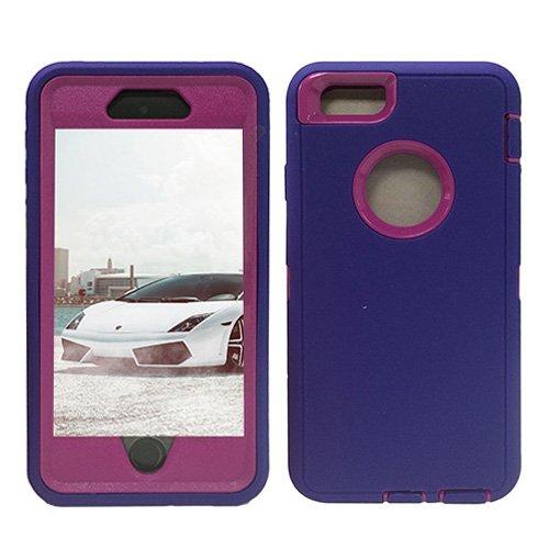 F8Q Colorful hybride étanche antichoc en caoutchouc Housse de protection Gel Case pour iPhone 6 violet