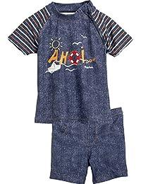Playshoes Boy's UV Sun Protection 2 Piece Swim Set, Swimsuit AHOI