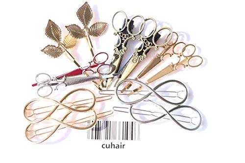 cuhair 12 stücke Metall Blätter Schere Vintage Frauen Mädchen Haarspange Haarspangen Haarschmuck
