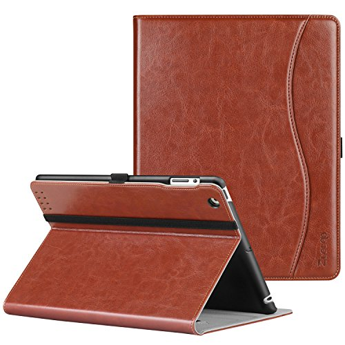 Ztotop Hülle für iPad 2 / iPad 3 / iPad 4, Premium Kunstleder Leichte Stand Schutzhülle Cover mit Auto Schlaf/Wach Funktion, für 9.7 Zoll iPad 2/iPad 3/iPad 4 Generation, Braun -