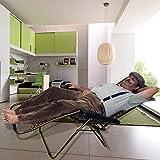 Kawachi Folding Zero Gravity Reclining Chair with Adjustable Headrest for Patio Garden K356 (Grey)