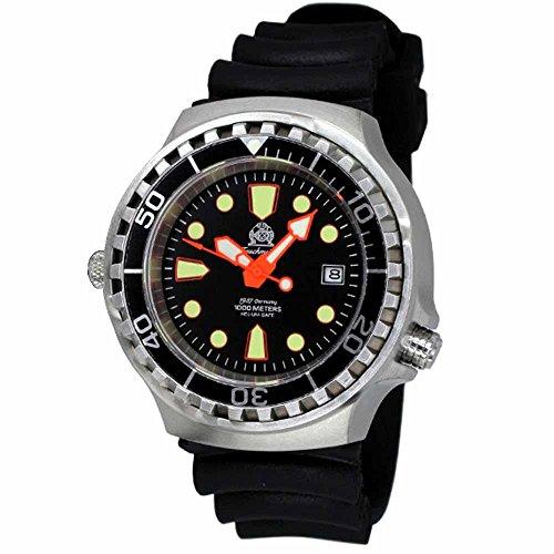 Tauchmeister automatico, 1000m Dive orologio con valvola di rilascio elio e zaffiro...