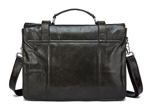 Xinmaoyuan uomo Borse uomo Borsa a Tracolla orizzontale di paragrafo borsa messenger in pelle Large-Capacity Bag,grigio scuro Grigio scuro