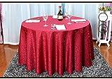 Modello di colore solido Tovaglia Poliestere Rotondo tavolo Quadrato di nozze Hotel Tavolino Tavolo Da Pranzo Tavola decorazione Modello Panno Polvere , wine red , round 3.2m