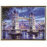 skgardeniamy Tower Bridge Nachtszene DIY 5D Diamant Painting Full Drill Diamant Crystal Strass Stickerei Bilder Kunst Handwerk für Home Wall Decor Voller Bohrer L805