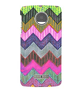 For Motorola Moto Z Play zigzag pattern ( beautiful pattern, pattern, zigzag pattern, nice pattern, stripes ) Printed Designer Back Case Cover By Living Fill