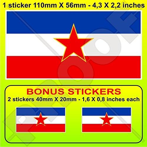yugoslavia-sfr-flag-socialist-federal-republic-sfry-yugoslavian-4-100mm-vinyl-bumper-sticker-decal-x