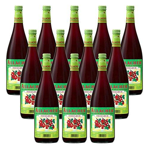 Allacher Ribiselwein, Fruchtwein aus Österreich 6{6ba5948f0973ea7b0df9ab31191352dbd0bb359f9470232b06cbcb2df97b54e6} vol. (12 x 1 l)