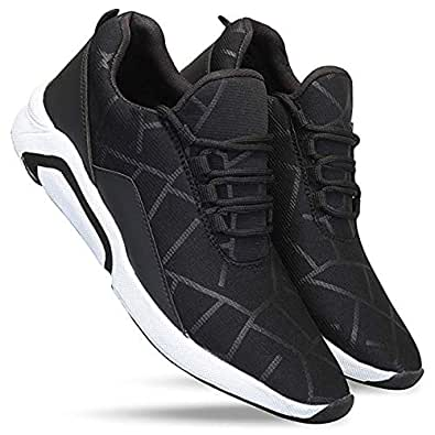 layasa Men's Running Sports Shoes for Men Black