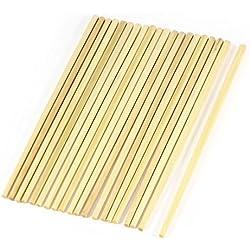 Palillos de bambu - TOOGOO(R)10 par palillos chinos tradicionales de bambu de cocina de longitud de 24cm