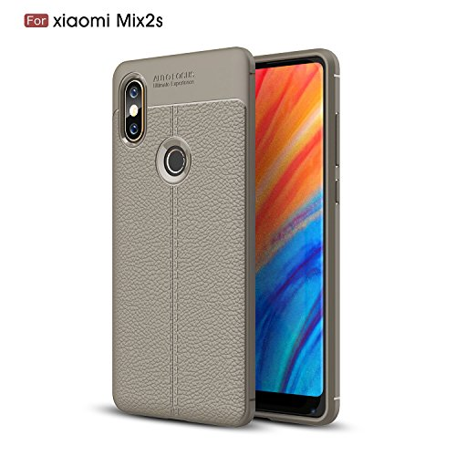 Cover xiaomi Mi Mix 2S Custodia xiaomi Mi Mix 2S con [Vetro Temperato Protezione Schermo] Ultra Sottile Anti-graffio Resistente Custodia Cover per xiaomi Mi Mix 2S complete package protection -Grigio