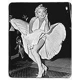 Art Tapis de Souris en Caoutchouc Naturel avec Photo Marilyn Monroe Classic Bords Cousus 22,9 x 17,8 cm