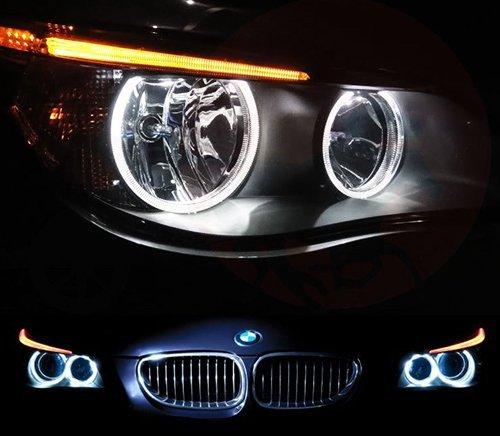 Preisvergleich Produktbild 4x LED Angel Eye Halo Ring Licht 501 T10 W5W Birne Weiß E60 E61 5 Series Pre LCI