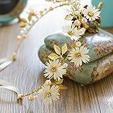 Rokoo Femmes fleur bandeau avec ruban - Couronne de mariage guirlandes couronne couronne florale