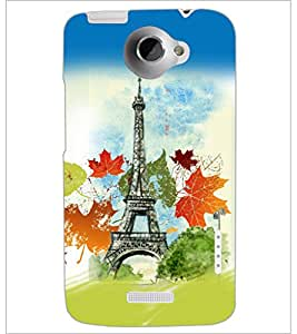 PrintDhaba Tower D-5957 Back Case Cover for HTC ONE X (Multi-Coloured)