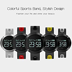 FANCY CHERRY® Smart Watch Bracelet Bluetooth 4.0 Heart Rate Monitor Sport Pedometer Bluetooth Health Smartwatch Wristband Fitness Activity Tracker for Android 4.3 IOS 8.0 Smart Phone